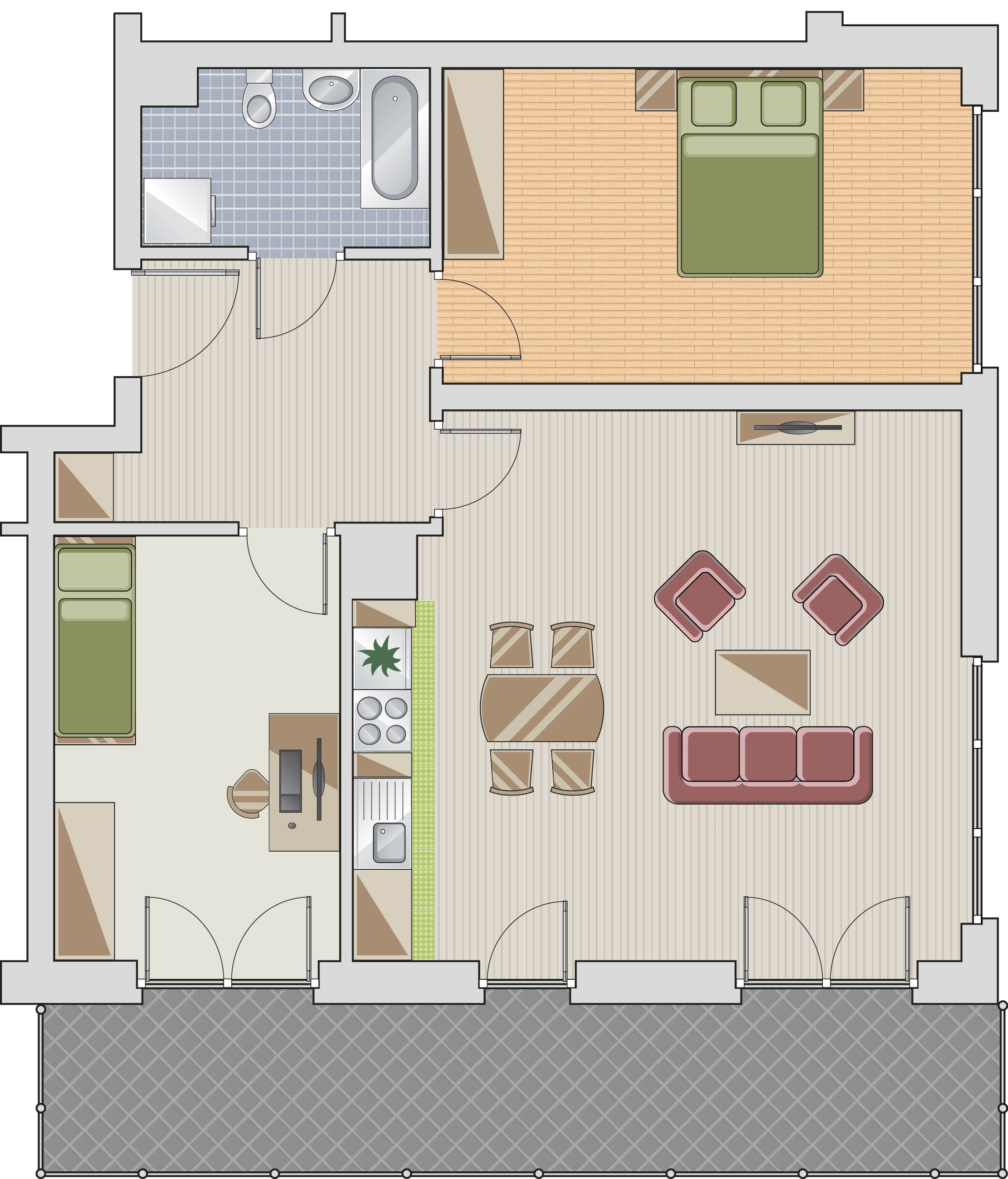 wizualizacja mieszkania